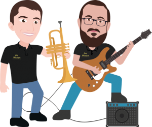 Vincent et Adrian chargé de la réparation instrument de musique Vienne 38 et achat instrument musique
